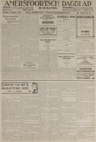 Amersfoortsch Dagblad / De Eemlander 1931-08-03