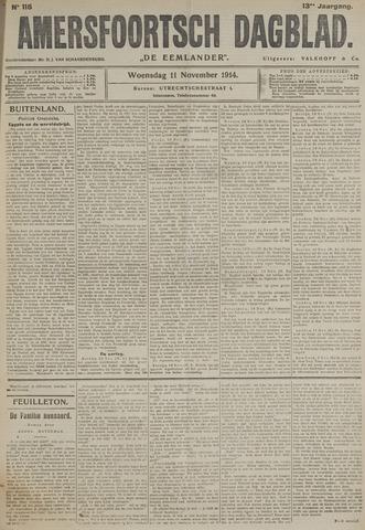 Amersfoortsch Dagblad / De Eemlander 1914-11-11
