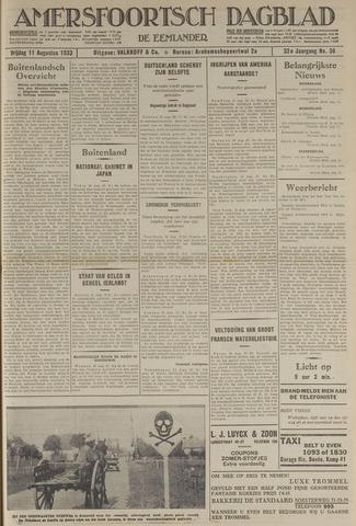 Amersfoortsch Dagblad / De Eemlander 1933-08-11
