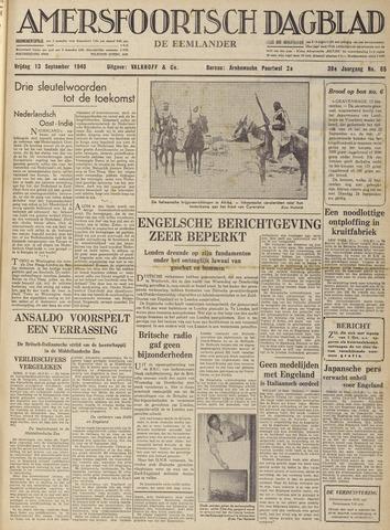 Amersfoortsch Dagblad / De Eemlander 1940-09-13