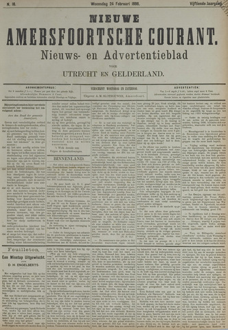 Nieuwe Amersfoortsche Courant 1886-02-24