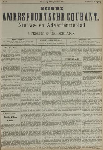 Nieuwe Amersfoortsche Courant 1885-09-30