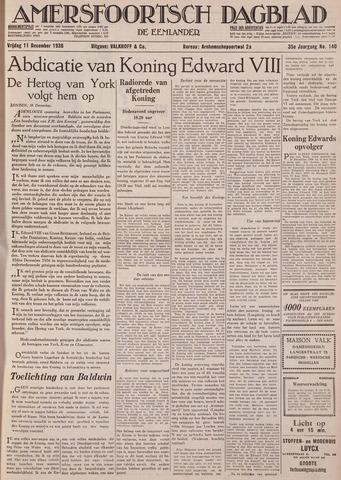 Amersfoortsch Dagblad / De Eemlander 1936-12-11