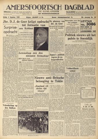 Amersfoortsch Dagblad / De Eemlander 1939-08-04