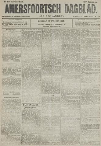 Amersfoortsch Dagblad / De Eemlander 1914-10-10