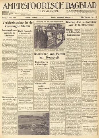 Amersfoortsch Dagblad / De Eemlander 1940-11-05