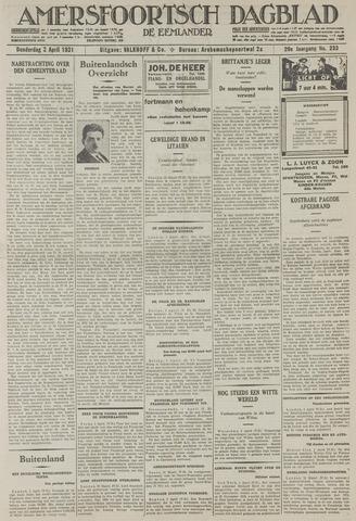 Amersfoortsch Dagblad / De Eemlander 1931-04-02