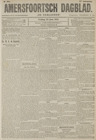 Amersfoortsch Dagblad / De Eemlander 1913-06-20