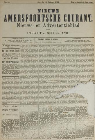 Nieuwe Amersfoortsche Courant 1892-10-15