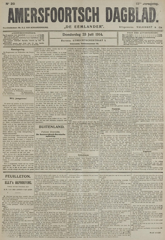 Amersfoortsch Dagblad / De Eemlander 1914-07-23