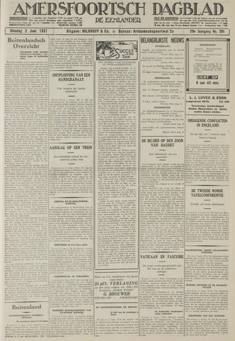Amersfoortsch Dagblad / De Eemlander 1931-06-02