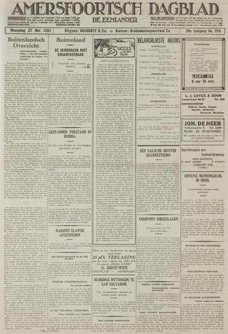 Amersfoortsch Dagblad / De Eemlander 1931-05-27
