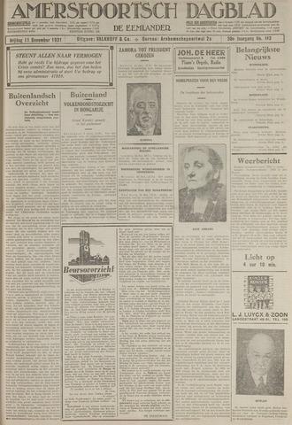 Amersfoortsch Dagblad / De Eemlander 1931-12-11