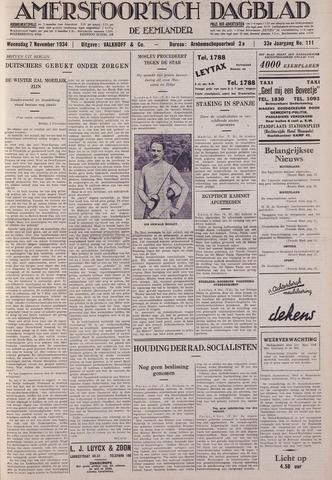 Amersfoortsch Dagblad / De Eemlander 1934-11-07