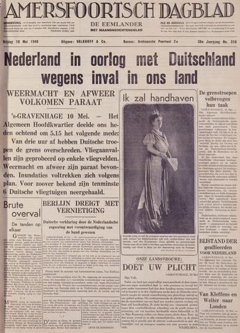 Amersfoortsch Dagblad / De Eemlander 1940-05-10