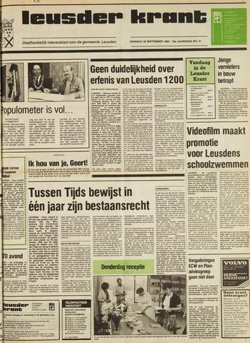 Leusder Krant 1984-09-18