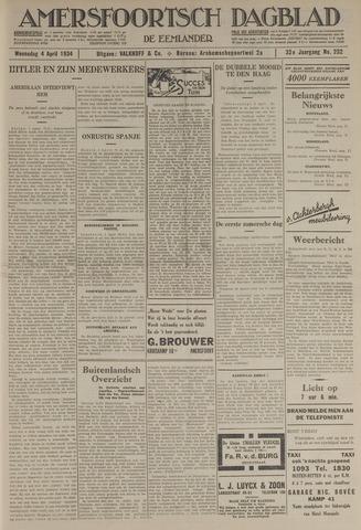 Amersfoortsch Dagblad / De Eemlander 1934-04-04