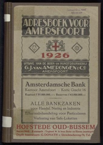 Adresboeken Amersfoort 1926-01-01