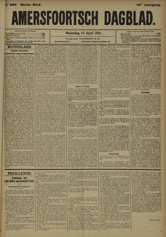 Amersfoortsch Dagblad 1912-04-15