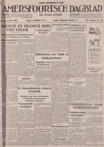 Amersfoortsch Dagblad / De Eemlander 1940-05-28