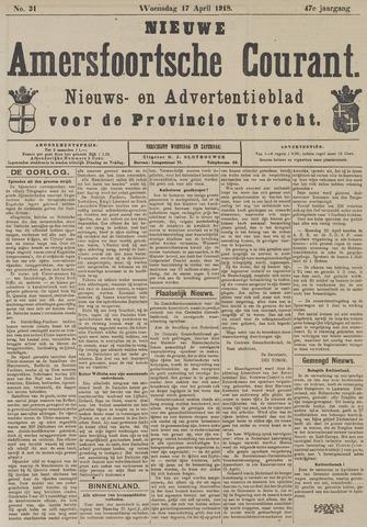 Nieuwe Amersfoortsche Courant 1918-04-17
