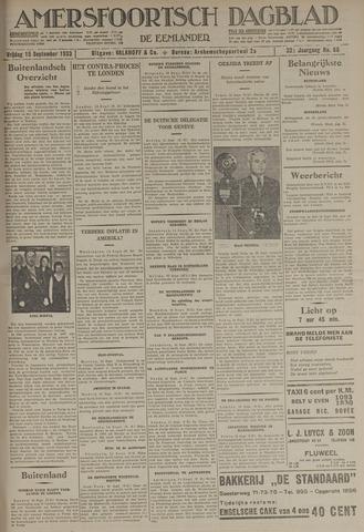 Amersfoortsch Dagblad / De Eemlander 1933-09-15