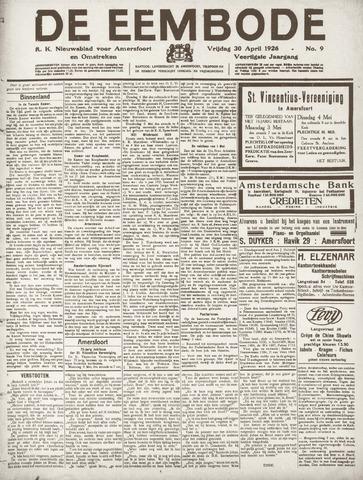 De Eembode 1926-04-30