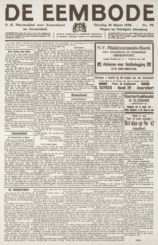 De Eembode 1926-03-16
