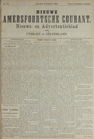 Nieuwe Amersfoortsche Courant 1893-02-18