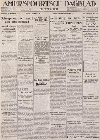 Amersfoortsch Dagblad / De Eemlander 1937-11-04