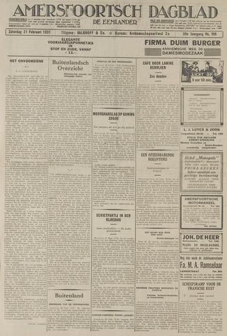 Amersfoortsch Dagblad / De Eemlander 1931-02-21