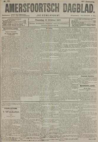 Amersfoortsch Dagblad / De Eemlander 1917-10-15