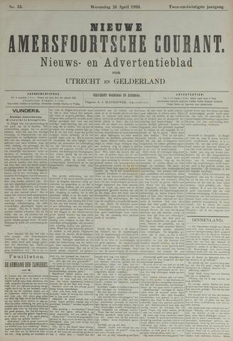 Nieuwe Amersfoortsche Courant 1893-04-26