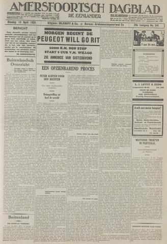 Amersfoortsch Dagblad / De Eemlander 1931-04-14