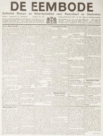 De Eembode 1916-02-29