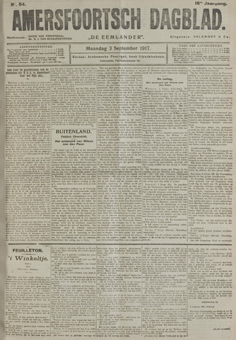 Amersfoortsch Dagblad / De Eemlander 1917-09-03
