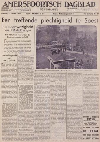 Amersfoortsch Dagblad / De Eemlander 1936-10-21