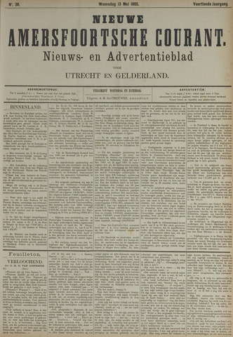 Nieuwe Amersfoortsche Courant 1885-05-13