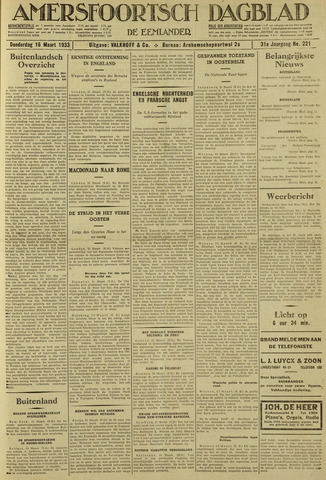Amersfoortsch Dagblad / De Eemlander 1933-03-16
