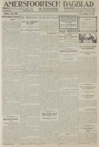 Amersfoortsch Dagblad / De Eemlander 1929-06-07