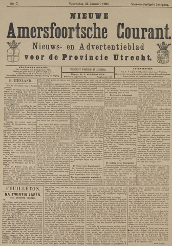 Nieuwe Amersfoortsche Courant 1905-01-25