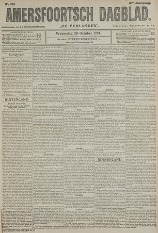Amersfoortsch Dagblad / De Eemlander 1913-10-29