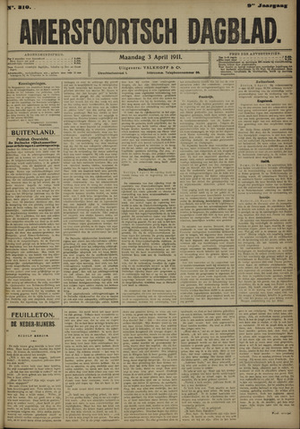 Amersfoortsch Dagblad 1911-04-03