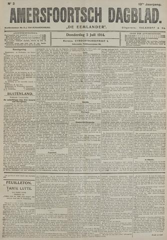 Amersfoortsch Dagblad / De Eemlander 1914-07-02