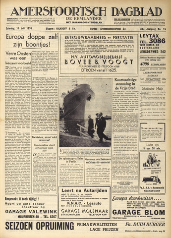 Amersfoortsch Dagblad / De Eemlander 1939-07-15