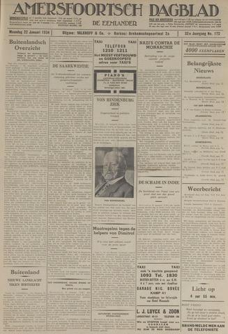 Amersfoortsch Dagblad / De Eemlander 1934-01-22
