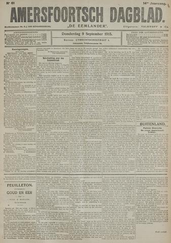 Amersfoortsch Dagblad / De Eemlander 1915-09-09