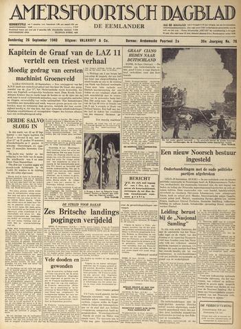 Amersfoortsch Dagblad / De Eemlander 1940-09-26