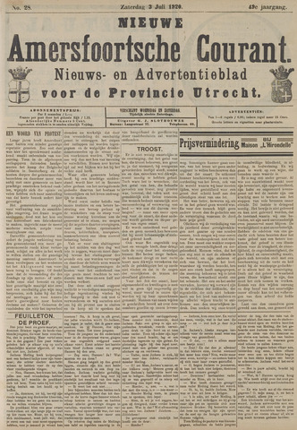 Nieuwe Amersfoortsche Courant 1920-07-03
