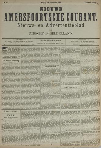 Nieuwe Amersfoortsche Courant 1886-12-24